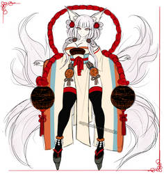 CLOSED AUCTION -SB 10 USD- Kemonomimi Concept #036 by espejodesordenado