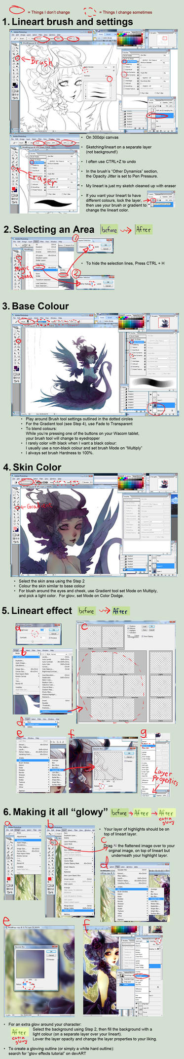 Tutorial all in one pic by bluefeathers