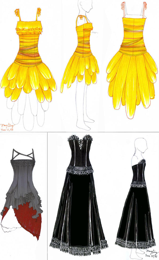 Dress Designs By Bluefeathers On Deviantart