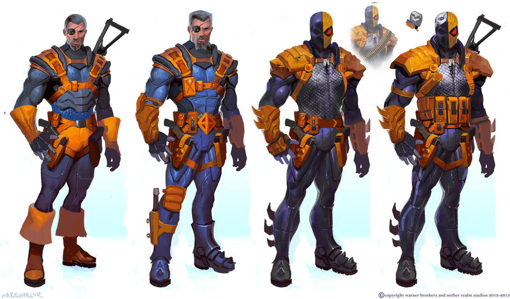 Deathstroke-variations by marconelor ...  sc 1 st  DeviantArt : deathstroke costume injustice  - Germanpascual.Com