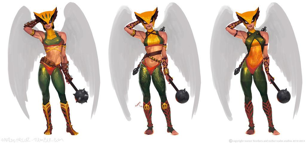 Hawk-Girl-Row by marconelor