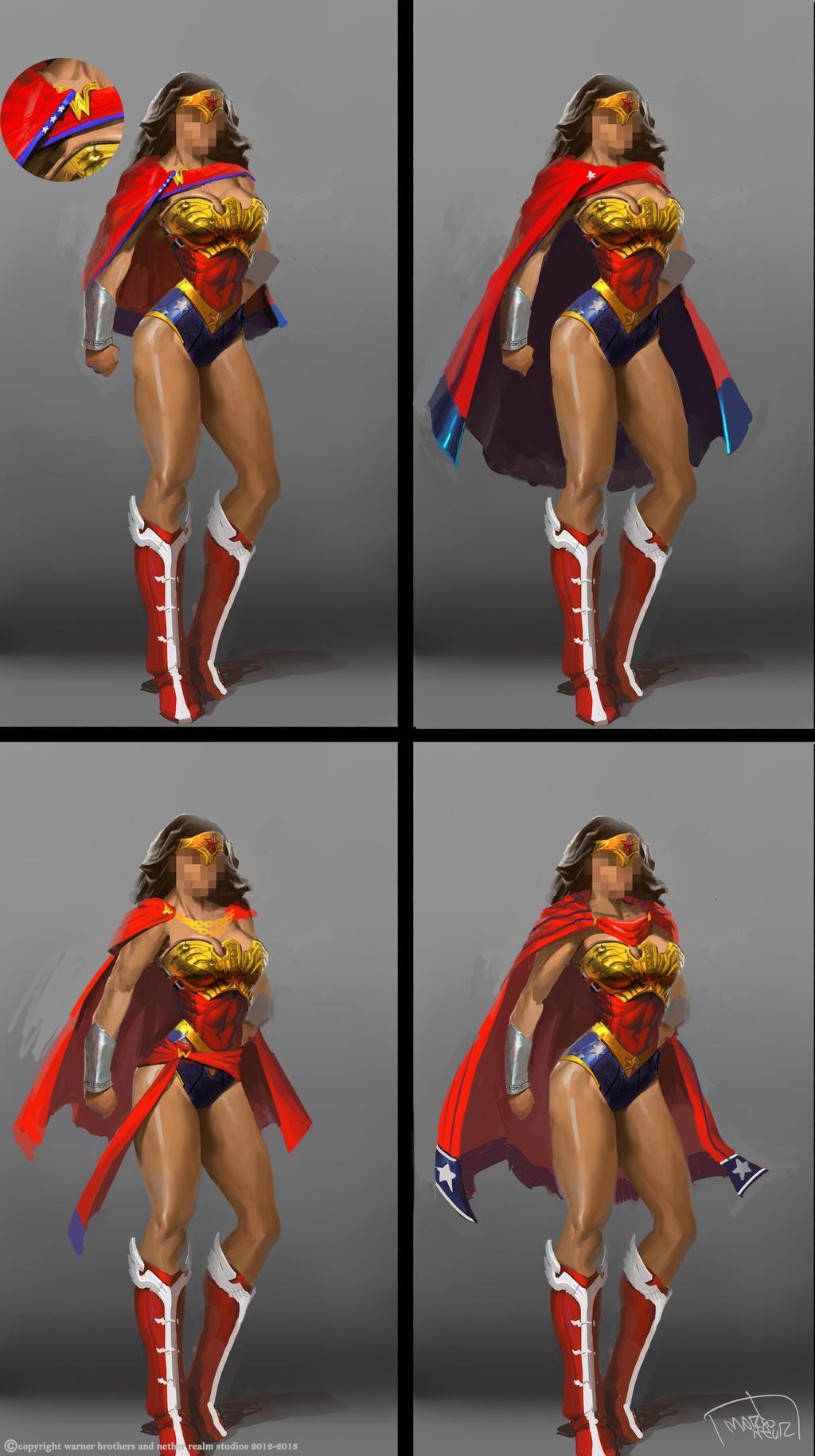 Wonder Woman cape studies by marconelor