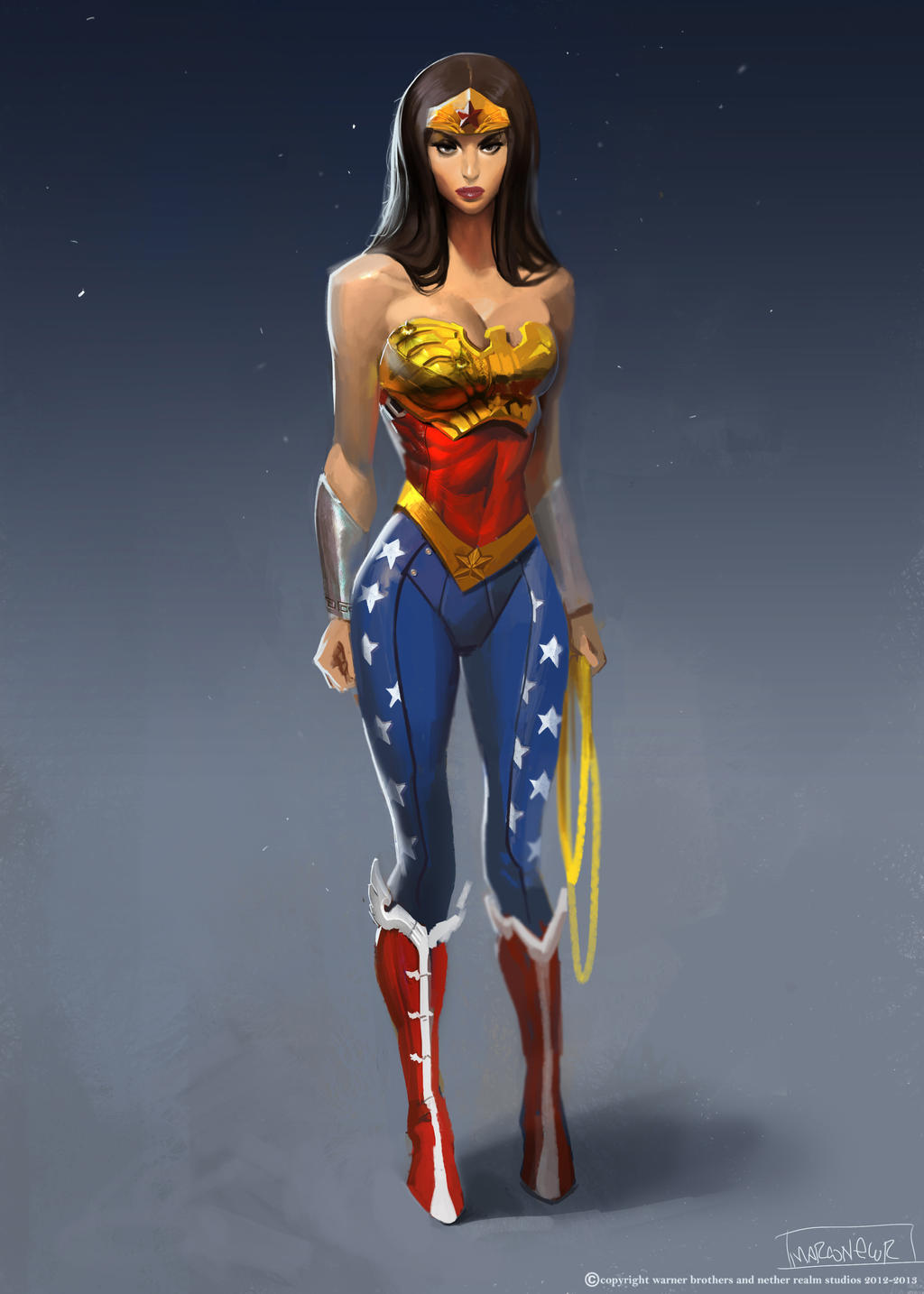 wonder woman character building by marconelor