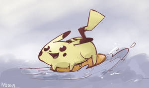 Pikachu Used Bread Surfing by imp24