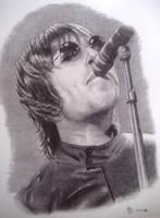 Liam Gallagher singing by havanaclubart