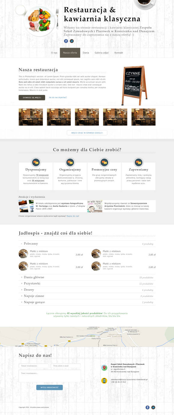 Restaurant and classic cafe website
