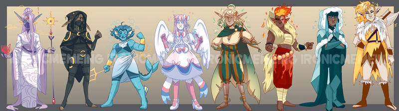 Eeveelution themed dnd adopts! 1 LEFT!!!