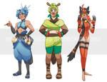 Starter pokemon second evo gijinka adopts SOLD