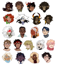 Angels peak character sticker sheet