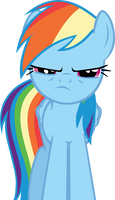 Rainbow Dash is not amused