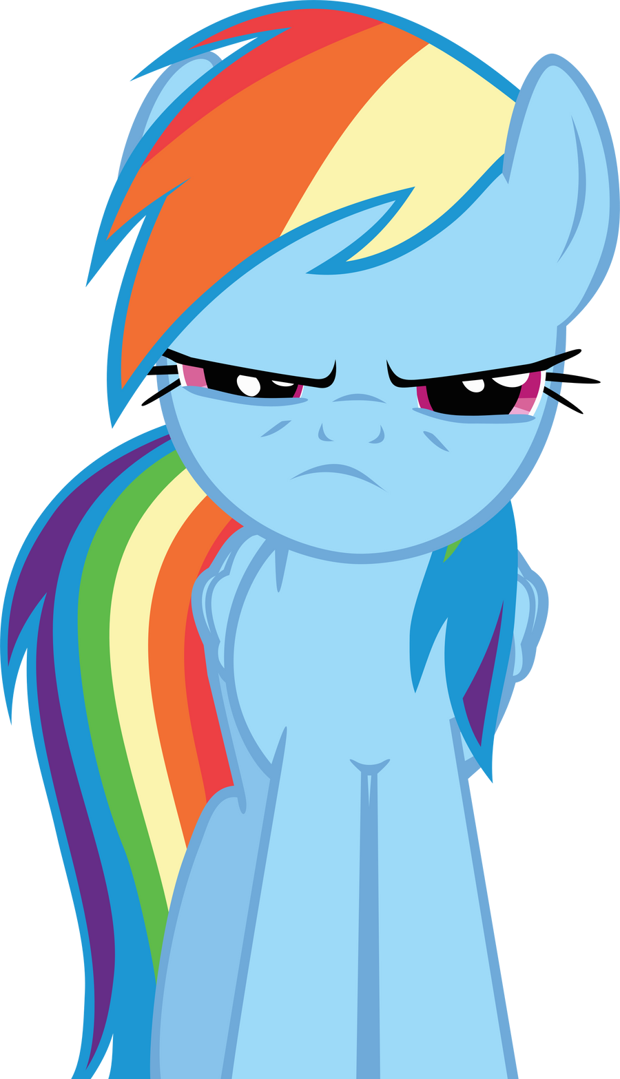 Mad Rainbow Dash Face Rainbow dash is not amused by