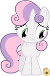 Sweetie Belle and the ribbon