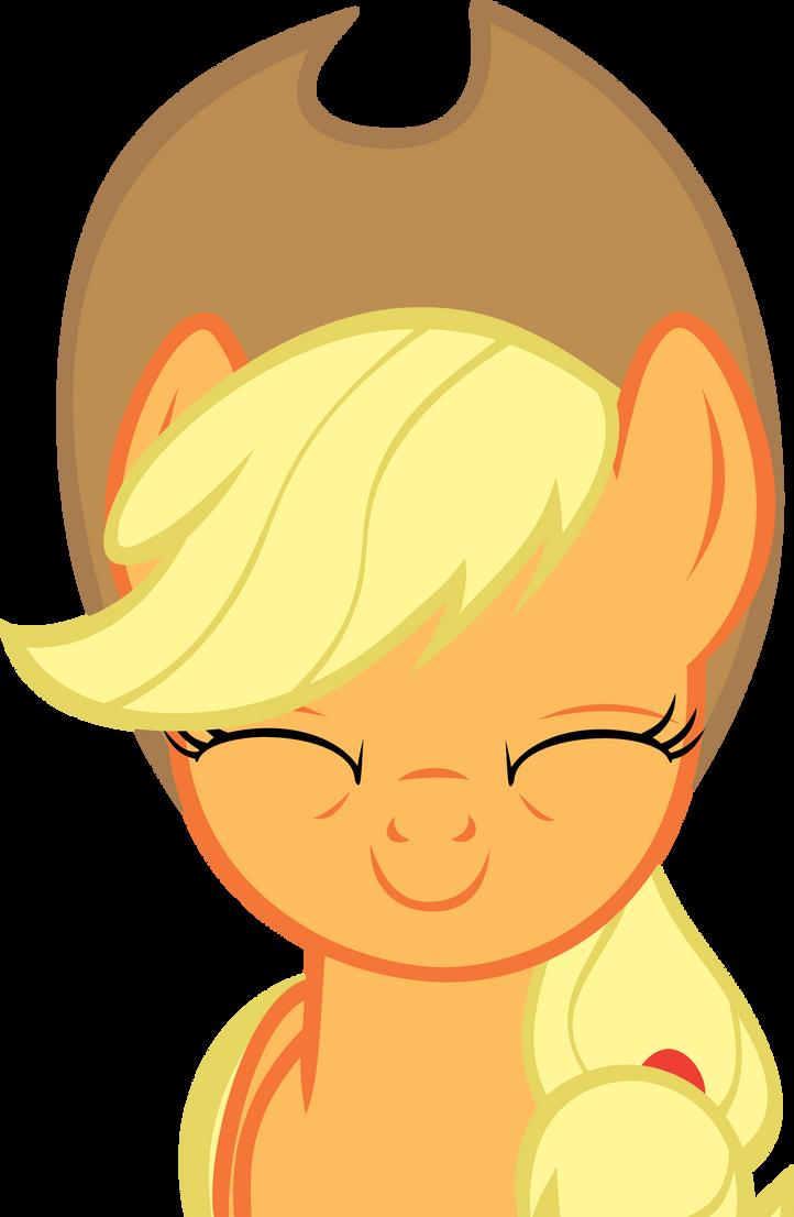 A happy but tired Applejack by FabulousPony on DeviantArt Happy Applejack Vector