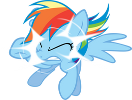 Rainbow Dash out of nowhere