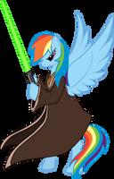 RainbowDashJedi by FabulousPony