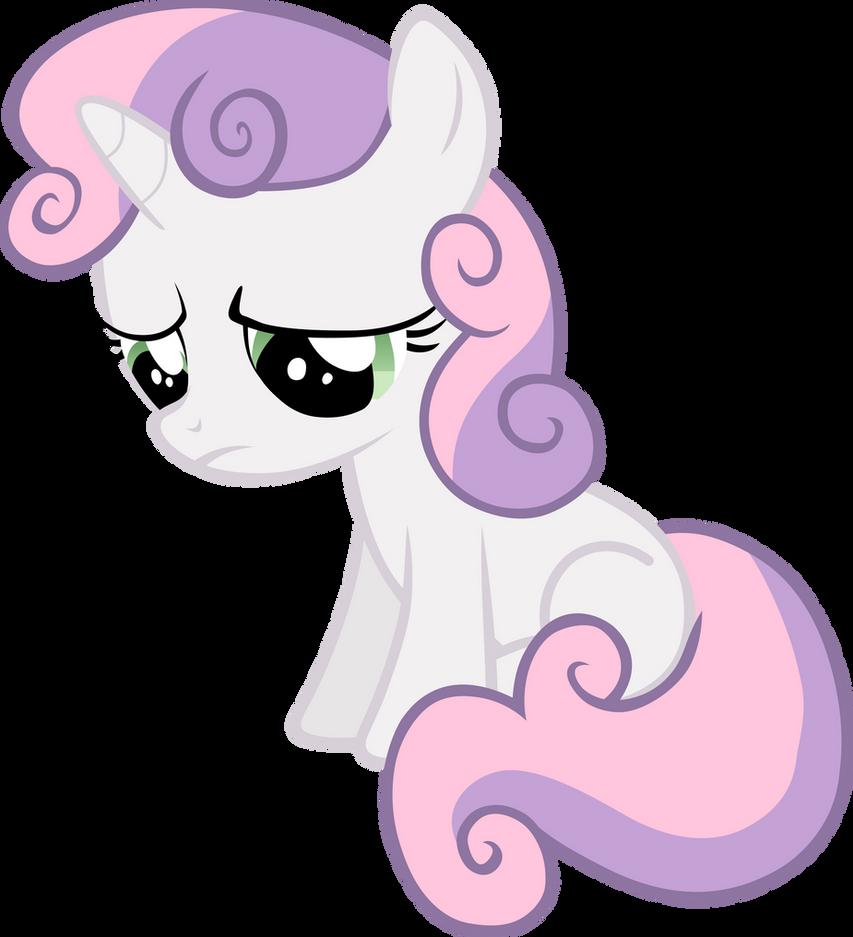 A sad Sweetie Belle by FabulousPony on DeviantArt