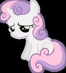 A sad Sweetie Belle
