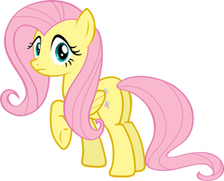 Fluttershy looking at you by FabulousPony