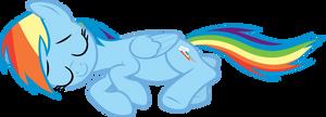 Rainbow Dash sleeping by FabulousPony