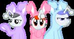 Reddit ponies dressed as Easter bunnies