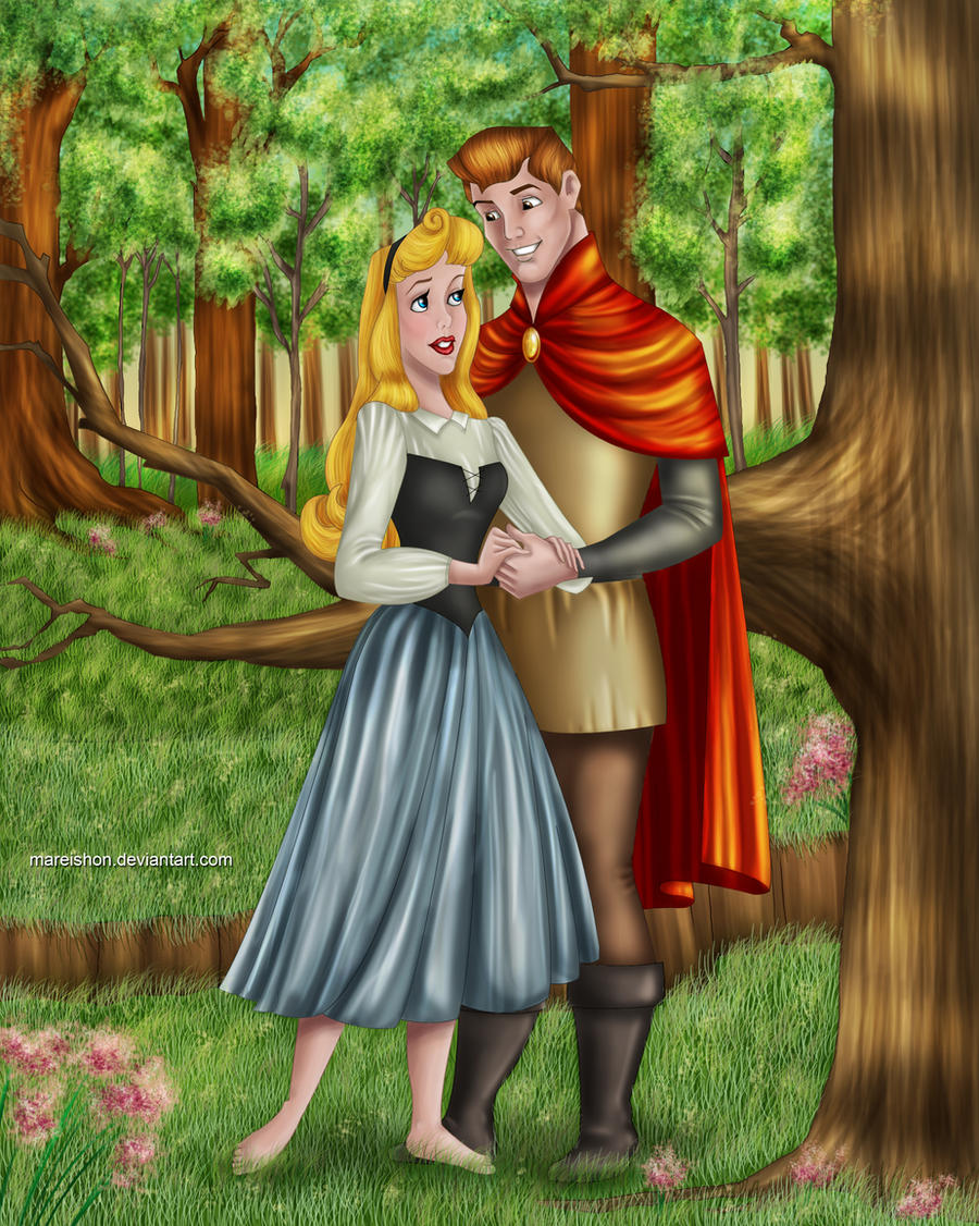 Sleeping beauty and prince philip wallpaper
