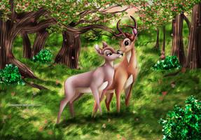 Bambi and Faline by Mareishon