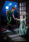 Peter Pan and Wendy by Mareishon