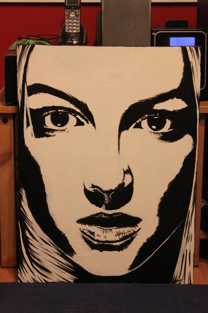 Britney Spears black white by pekirock