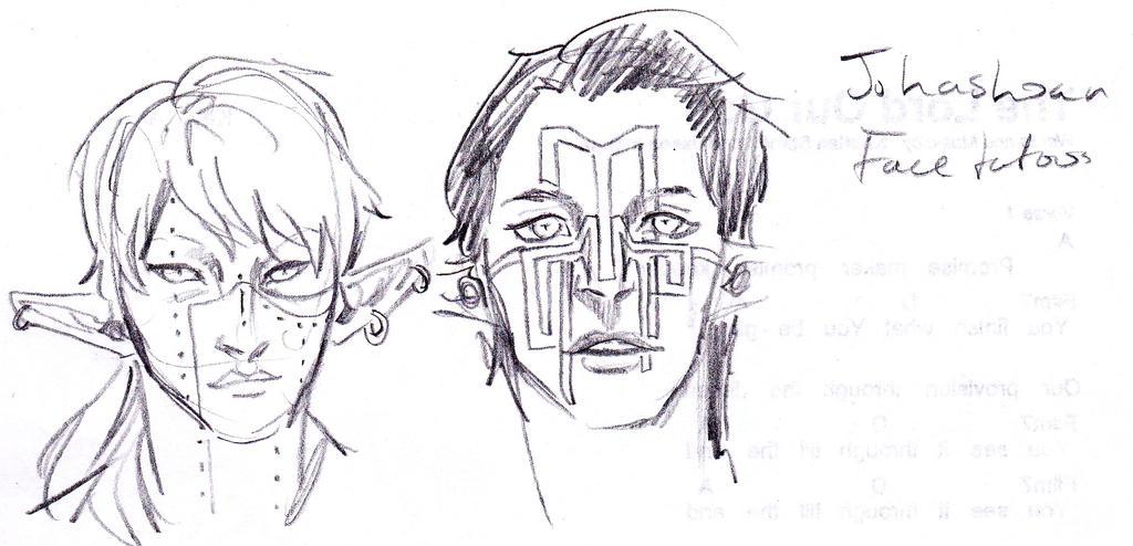 jahashoan facial tats by lillooler on deviantart