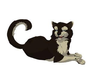 Kisaragi as a cat by gasuaska