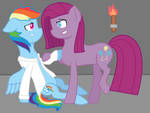 Rainbow Factory Dash x Pinkamena!