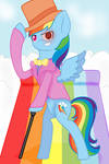 Rainbow Dash: Fluttershy and the Rainbow Factory.