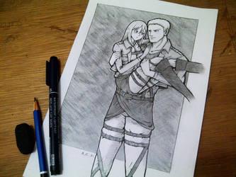 Attack on Titan - Reiner and Christa by alizakusuma