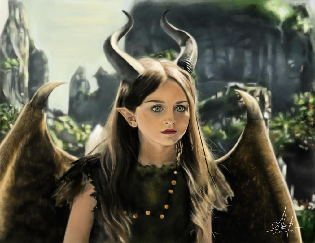 Young Maleficent by alizakusuma