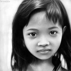Jakarta Child (digital painting) by aortaFX