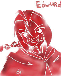 Edo-kun... red-ness outline XD