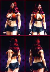 Saints Row 3 - muscular woman 1-3 by J2001