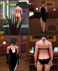 The Sims 3 - muscular woman 1-2 by J2001
