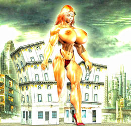 Giantess Tieena 1 by SuperCDR by J2001