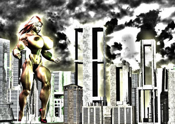 Giantess Tieena 2 by SuperCDR by J2001