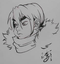 Snow Kid Inked by arcais