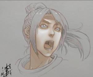 Warrior Sketch by arcais