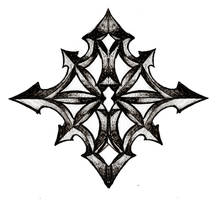 tribal chaos star by scumdesigns