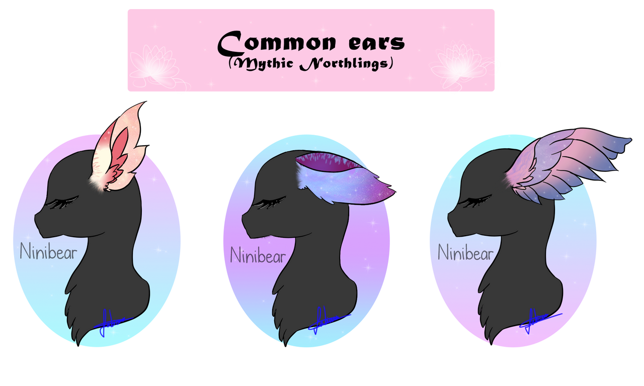 mythic northlings common ears my species by niniibear on deviantart
