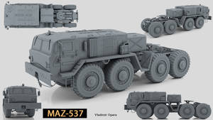 MAZ-537 (High poly modeling)_02 by Opara