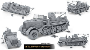 Sd kfz 9/1 (Famo) late version by Opara