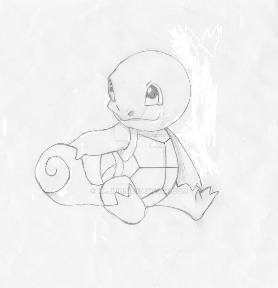 Squirtle uncolored by Kajhin