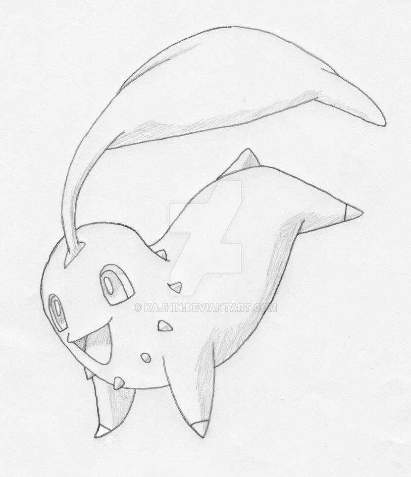 Chikorita uncolored by Kajhin