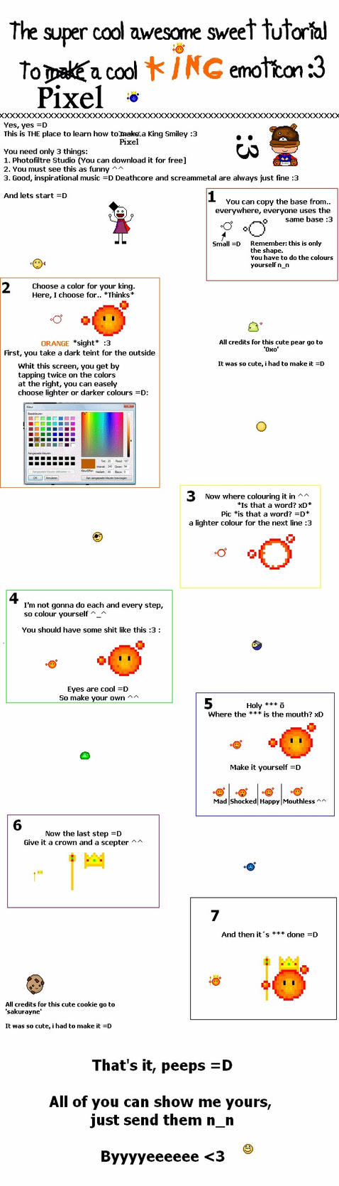 how to make emoticons on deviantart