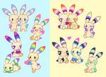 Pride Plusle and Minun
